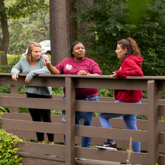 Campus life at Mount Ida